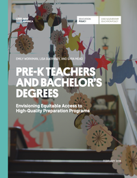 Pre K Teachers And Bachelors Degrees Envisioning Equitable Access