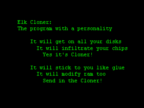 Elk Cloner Message
