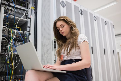 Woman in Servers